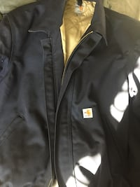 New without tags Carhartt FLAME-RESISTANT DUCK BOMBER JACKET/QUILT-LINED Large Kalamazoo, 49048