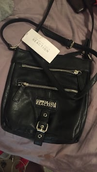 black Kenneth Cole Reaction leather shoulder bag