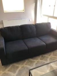 black fabric 3-seat sofa Washington, 20015
