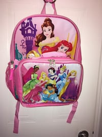 Disney Princess Backpack+Lunch Bag+Pencil Case New with Tag