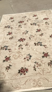 white, red, and green floral area rug Qualicum Beach, V9K 1B9