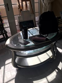 Silver and glass coffee table Pembroke Pines, 33026