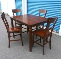 Counter Height Table and Four Chairs