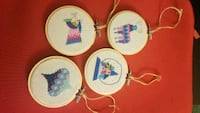 Cross stitch embroidery christmas ornaments  Topton