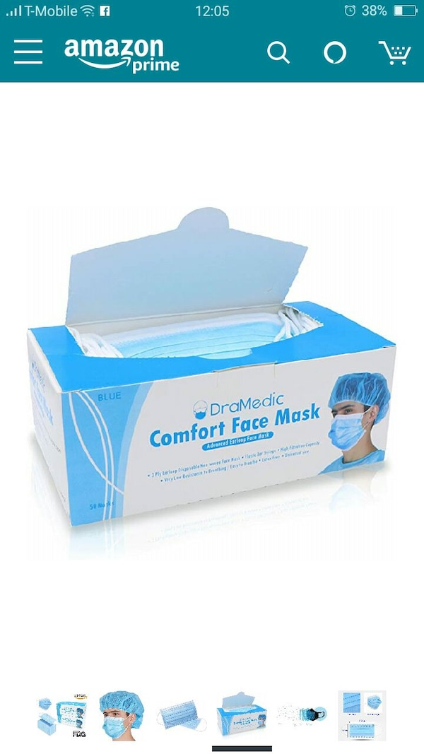 disposable earloop face mask prime