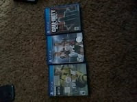three Sony PS4 game cases Tampa, 33607