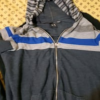 Two armani hoodies one lg and one xl
