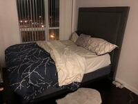 Complete queen bed with tall headboard Toronto, M6E 4V9