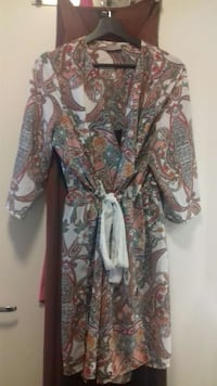 women's multicolored paisley printed bathrobe Stockholm