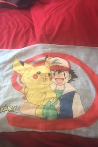 Pokemon pillow case Vintage 1998 clean