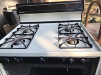 White and black gas range oven San Antonio, 78218