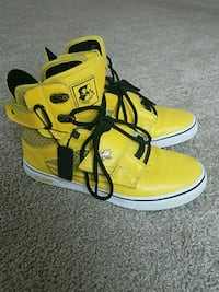 pair of yellow-and-black high top sneakers Fayetteville