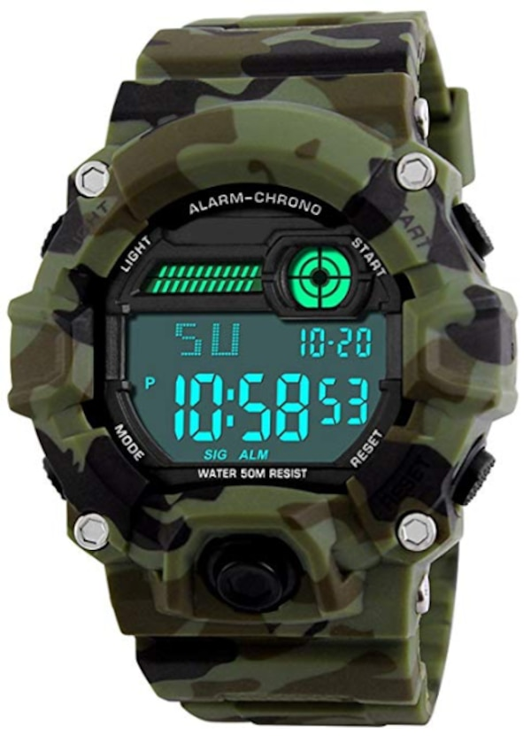 new Kids Military Digital Watch With Timer - Waterproof Sports Watch Army Alarm Wrist Watches For Boys SEEWTA