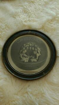 round wood frame MiddlePoint 1930 wall decoration
