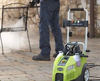 We offer services with high water pressure machine to clean side walks, parking lots, etc Mississauga