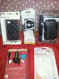 four assorted iPhone cases in packs Hanford, 93230