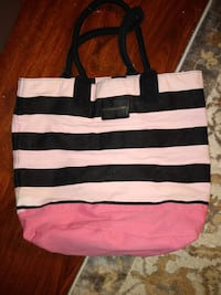 Medium size Victoria's Secret pink and black tote