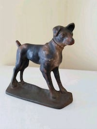 Antique Cast Iron Dog Door Stop