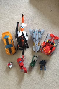 7 Transformers robots  and 1 Tonka helicopter Calgary, T2Y 3S3