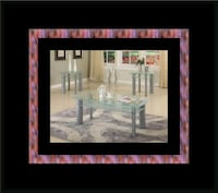 Glass white coffee table Cheverly