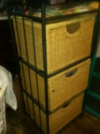 Wicker and iron 3 drawer chest  Fort Worth, 76135