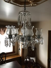 Silver-colored uplight chandelier Clifton, 07013