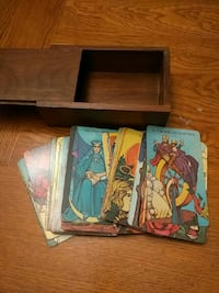 Tarot card collection with box