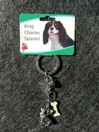 stainless steel king charles spaniel keychain Curtice, 43412