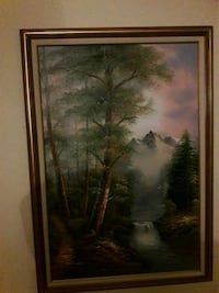 brown wooden framed painting of trees Marlboro Township, 07746