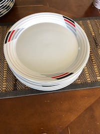 white and red ceramic plate Loma Linda, 92354