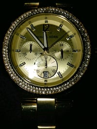 round gold Michael Kors chronograph watch with link bracelet Palm Bay, 32905