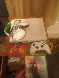white Xbox One console with controller and game ca Jackson, 49203
