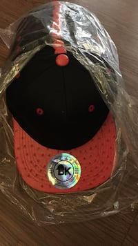 red and black fitted cap Boston, 02121