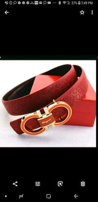 red leather Salvatore Ferragamo belt Columbia, 21044