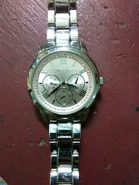 round silver chronograph watch with link bracelet Abilene, 79605