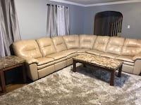 Selling couch and three tables.