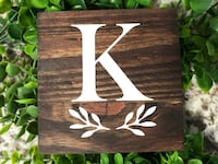 Mini Monogram Sign for Tiered Tray Decor   Initial Letter Sign Essa