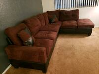 Brown sectional with ottoman  Las Vegas, 89110