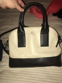 white and black leather tote bag Baltimore, 21222