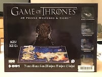 Game of Thrones 4D puzzle Calgary, T3K