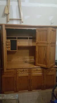 brown wooden TV hutch with cabinet Gainesville