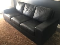 Black leather couch Toronto, M3H 2C4