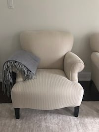 White fabric sofa reading chairs Vaughan, L4L 1S2
