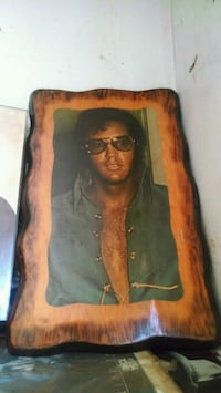 Elvis older brown and black wooden wall decor Craigsville, 24430