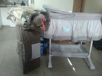 black and gray travel cot Edmonton, T5G 2B5