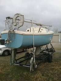 1970 Columbia 22-foot sailboat whip trailer