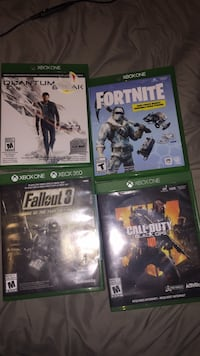 four Xbox One game cases Burnaby, V3N 2P4