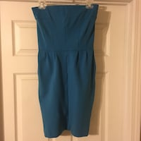 EXPRESS strapless dress, Color: Teal worn once to a wedding Waycross, 31503