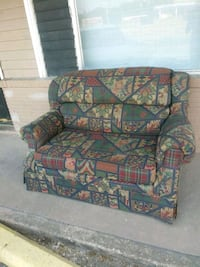 red and green floral fabric sofa chair Denison, 75020