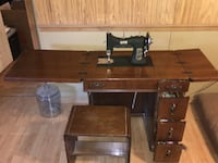 White Model 77 vintage Sewing machine and Cabinet JACKSON